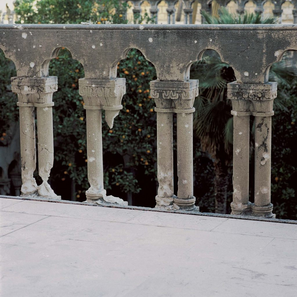 BALUSTRADE OF THE FRANCISCAN CLOISTER TERRACE, 14. December 1991
