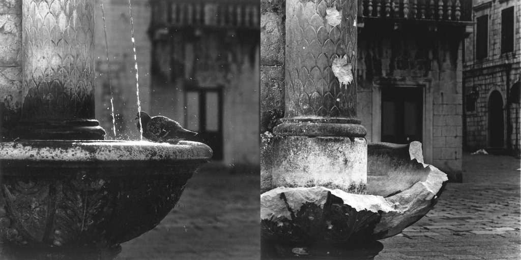 FOUNTAIN ON GUNDULIĆ'S SQUARE, February 1989 / June 1992