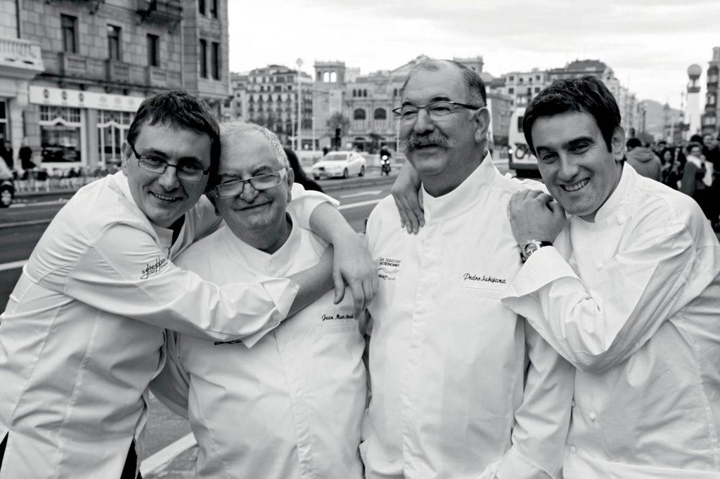 Andoni Luis Aduriz, Juan Mari Arzak, Pedro Subijana i Josean Alija
