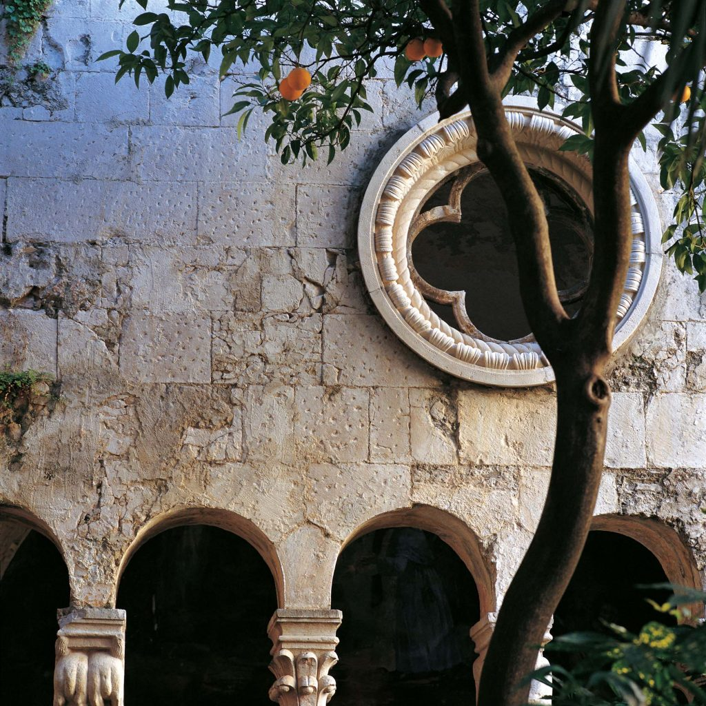 THE CLOISTER OF THE FRANCISCAN MONASTERY, DUBROVNIK, JANUARY 1990