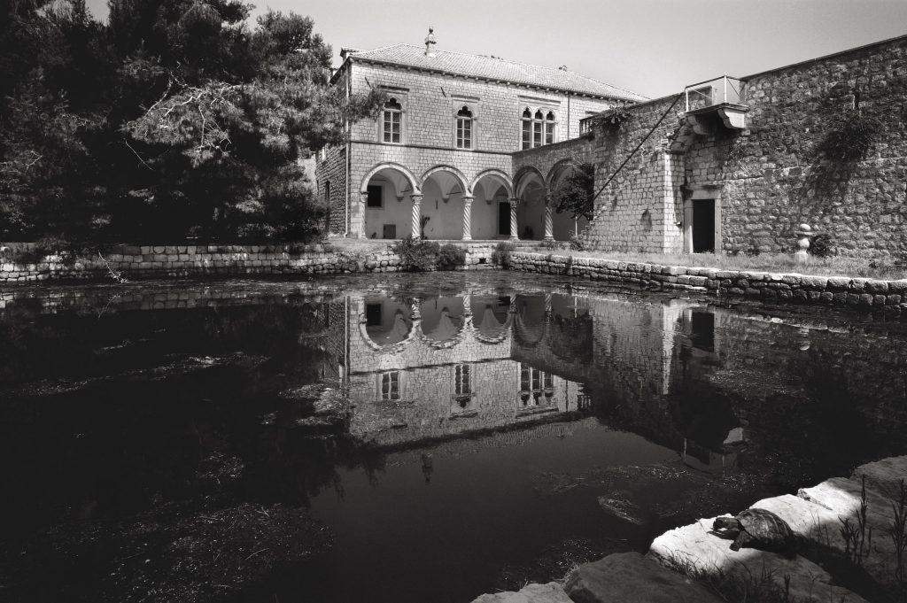 Lapad, the villa of Petar Sorkočević, the pond