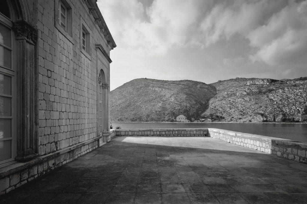 Rijeka dubrovačka, the Stay villa, a view from the terrace