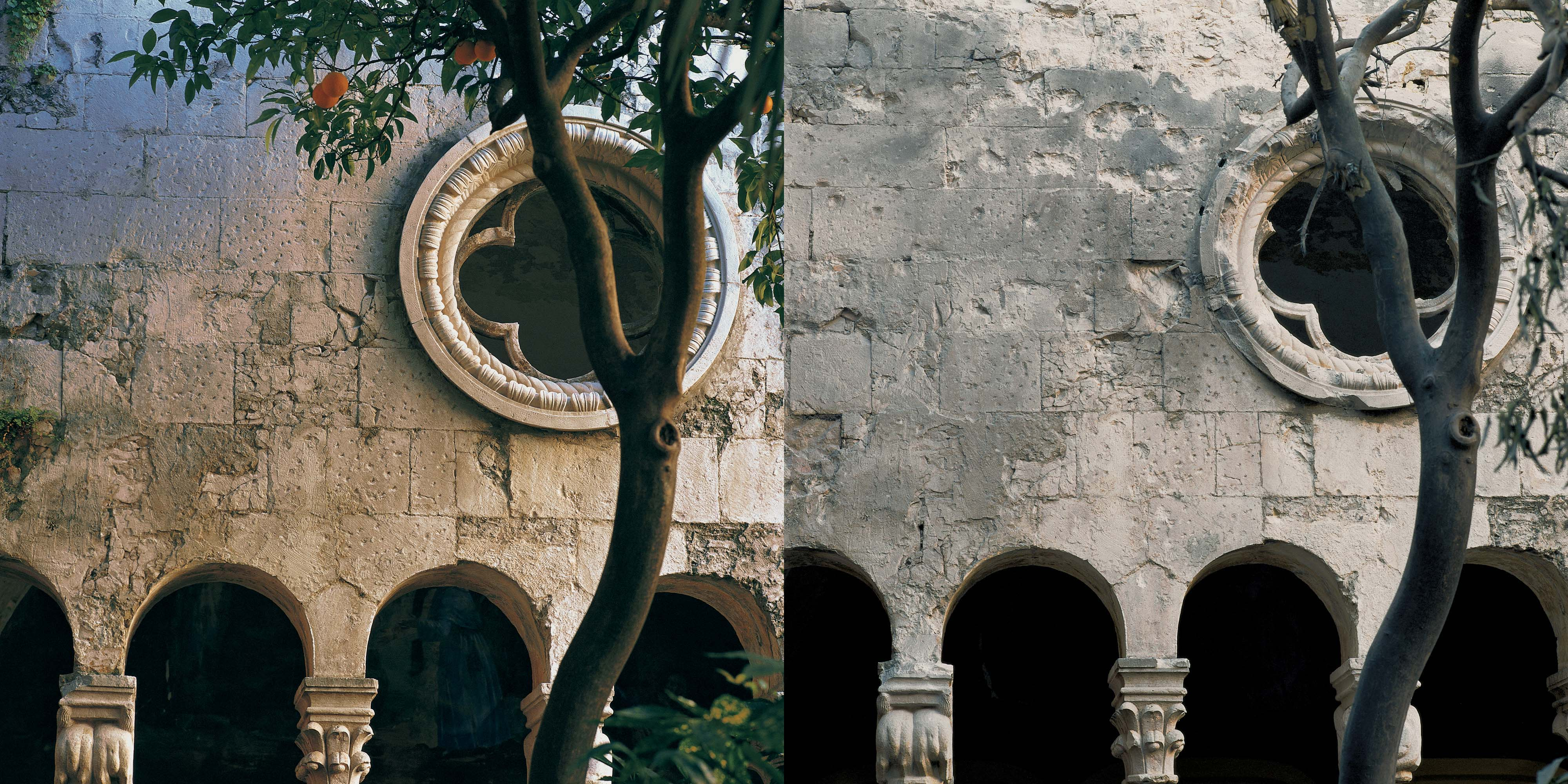 <em>The photographer's dedication to the architectural heritage</em> damaged during the war in Croatia