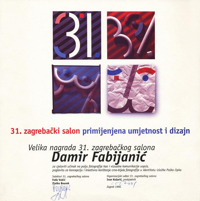 Dobitnik <em>Velike nagrade</em> 31. Zagrebačkog salona