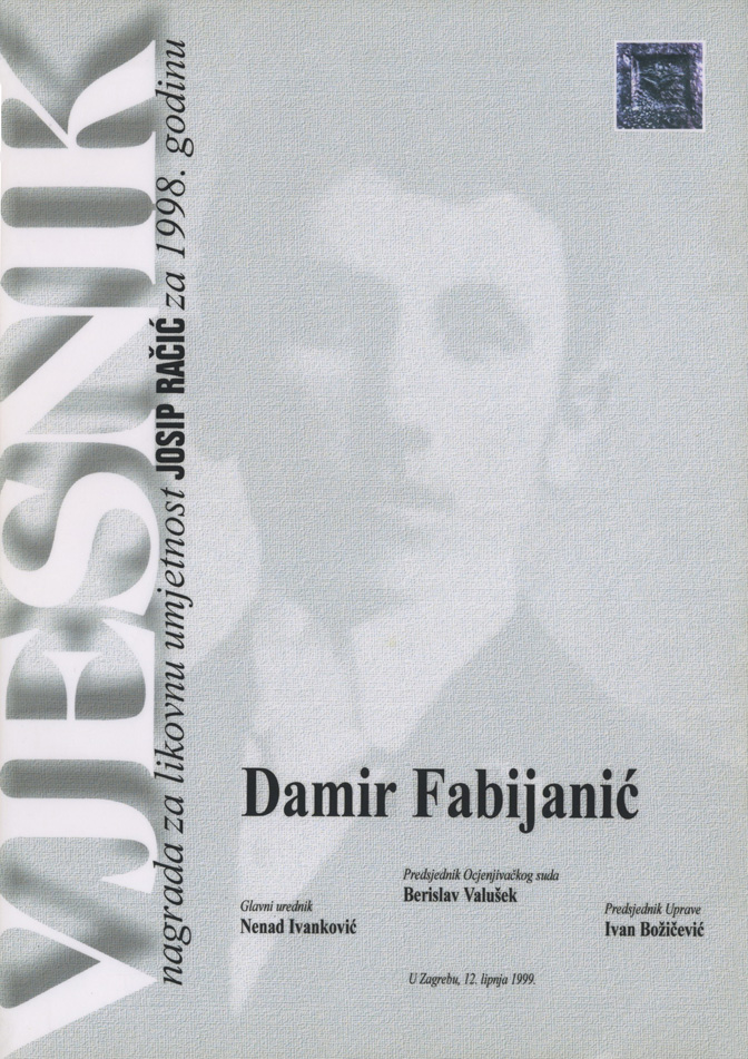 Dobitnik nagrade <em>Josip Račić</em>, za likovnu umjetnost